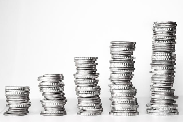 Stapled coins